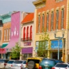 downtown shops in Laramie, Wyoming