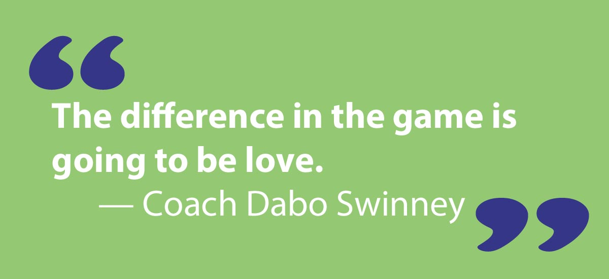 green box with quote from Coach Dabo Swinney