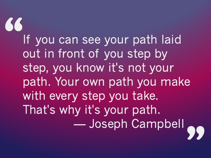 purple and pink gradient box with quote from Joseph Campbell
