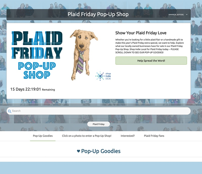 Plaid Friday Pop-up Shop Monadnock