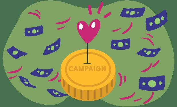 graphic of raising money through love